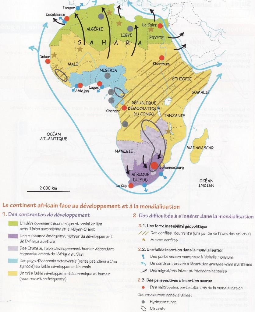 Carte De Lafrique Bac Es.Site D Histoire Et Geographie Cartes Terminale
